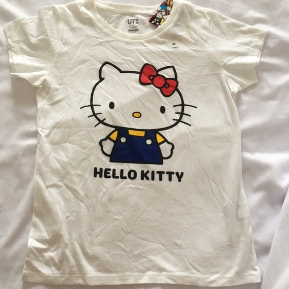 Girls HELLO KITTY white long sleeve top Sizes 4 /& 6 years BNWOT